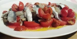 Tomates ecológicos, bocartes de Gijón