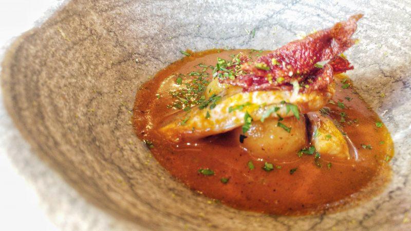 Guiso de patatas y moluscos, Restaurante el Regueiro, Tox