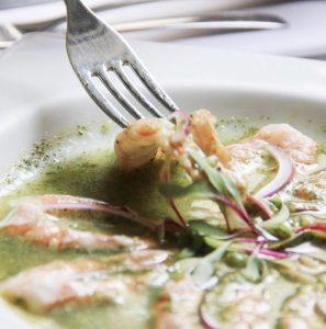 Agua chile verde de camarón Miss Maridajes, Piedra Sal, aguachile de camarón. Miss Maridajes, mejores ceviches y aguachiles de Cdmx